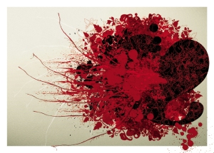"©Grafiklee 2006 | Poster: ""Heart Attack"" Sizes: 50x70cm."